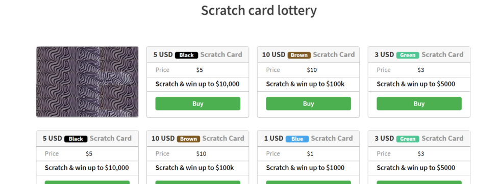 BetCoBit scratch card purchased